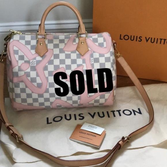 Louis Vuitton Handbags - ❌SOLD❌ LOUIS VUITTON Damier Azur Tahitienne Speedy